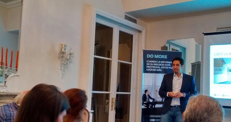 En su debut en sociedad, Federico Pérez Aquisto nos puso al día con la información de ESET en Latinoamérica