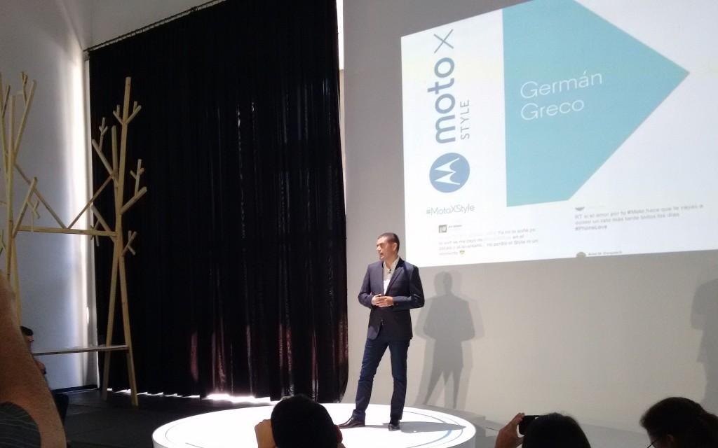 Como ya es costumbre, German Greco introduce la presentación, hablando de lo bien que le va a la compañía y cómo los Moto son los más buscados.