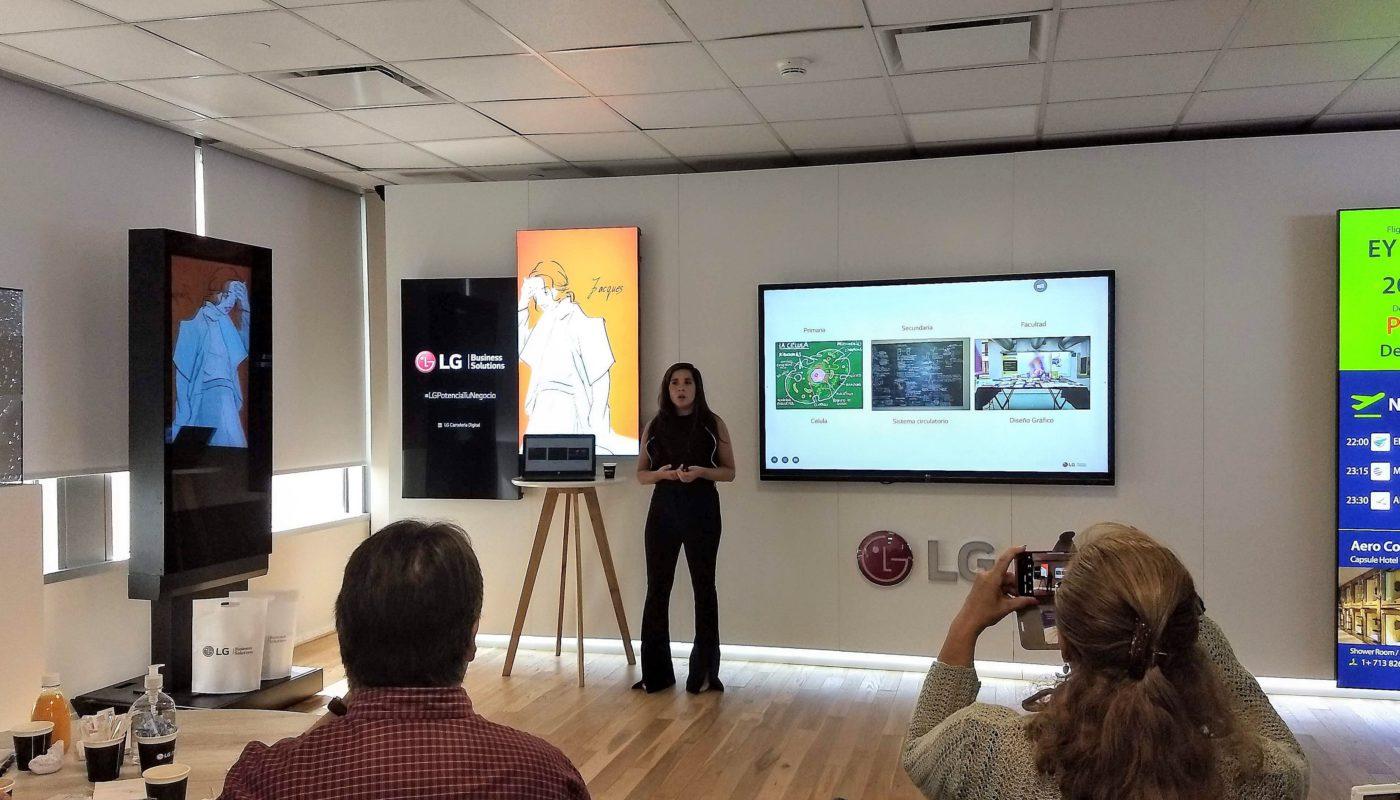 LG y su pantalla interactiva